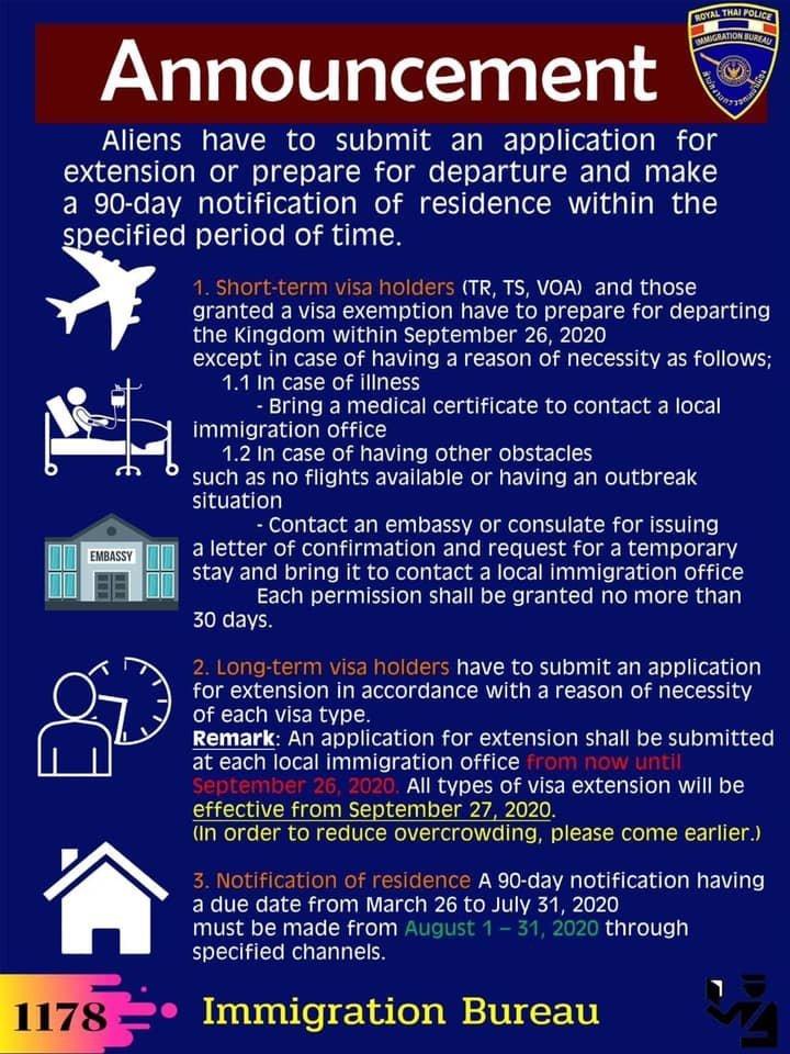 Thailand immigration Visa Amnesty until 26 September